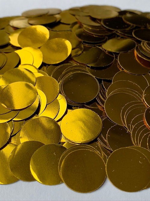 Gold Metallic Confetti