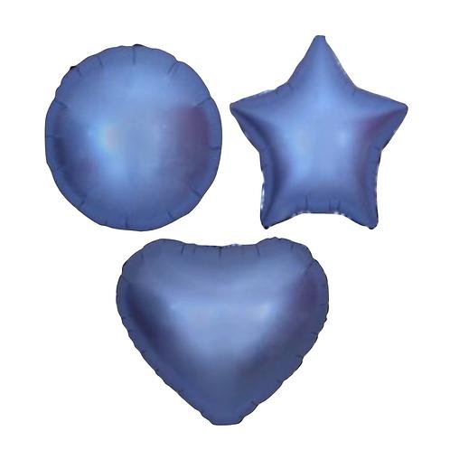 Dark Blue Satin Heart/Star/Round