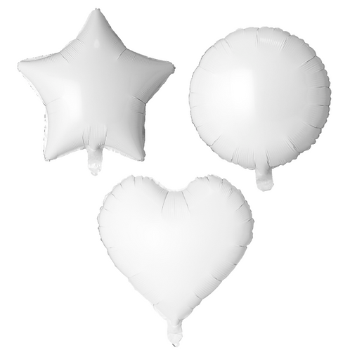White Heart/Star/Round