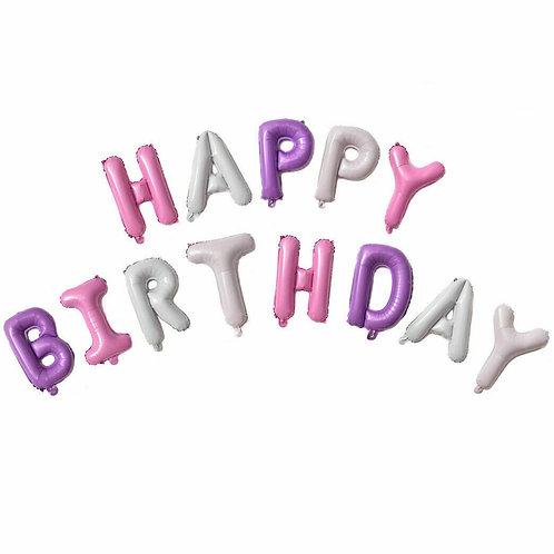 Pink/Purple Happy Birthday