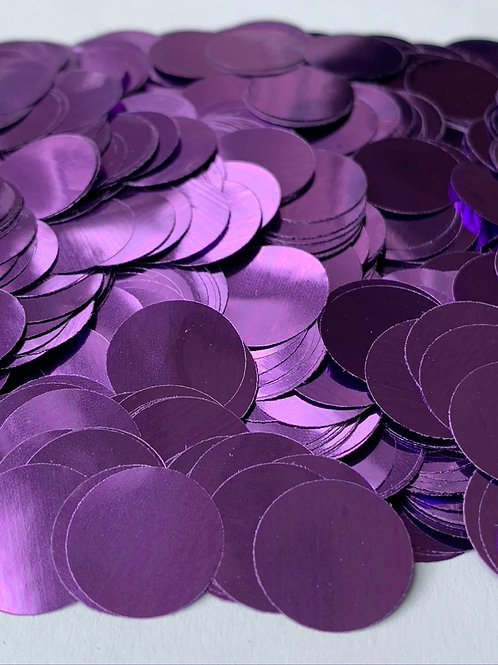 Purple Metallic Confetti