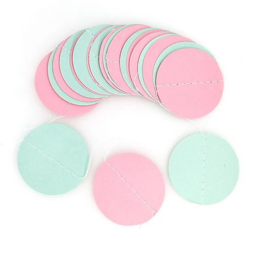 Circle - Mint + Pink
