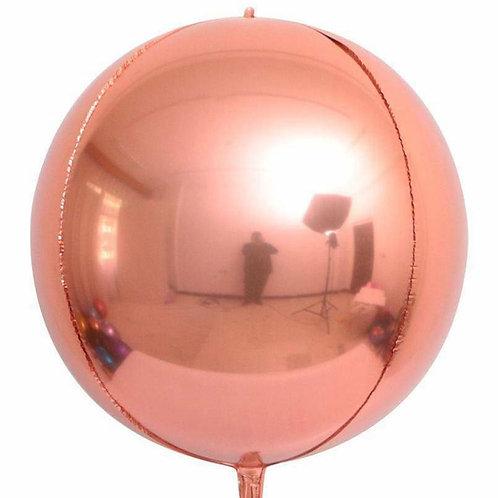 Rose Gold 4D Sphere