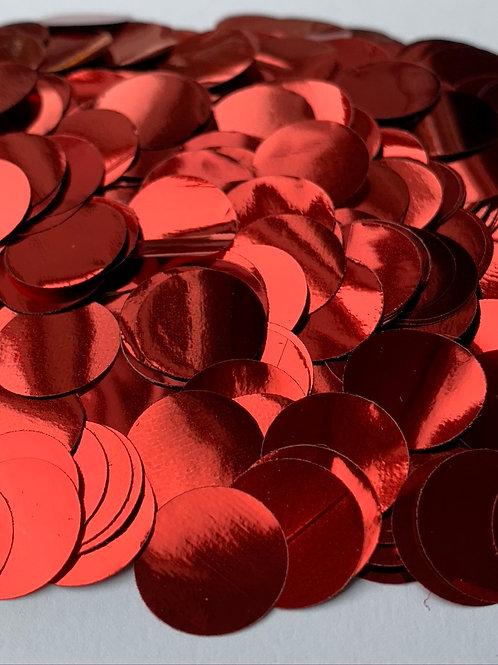 Red Metallic Confetti