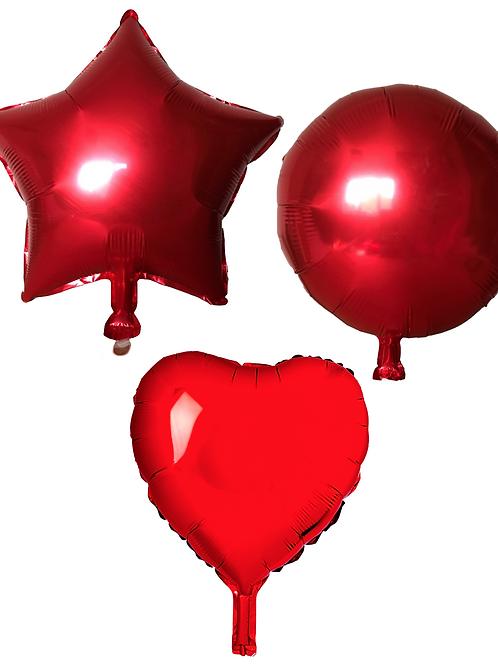 Red Heart/Star/Round
