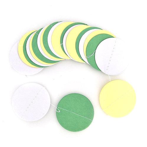 Circle - White + Green + Yellow