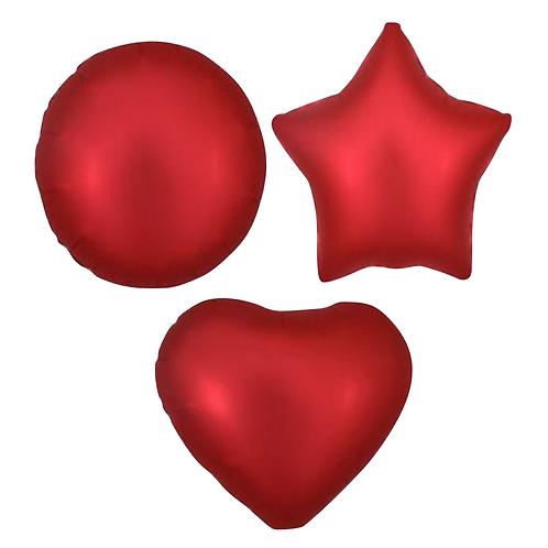 Red Satin Heart/Star/Round