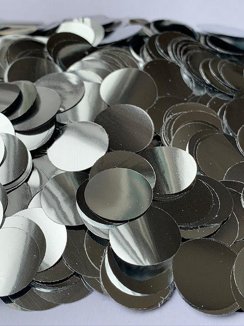 Silver Metallic Confetti