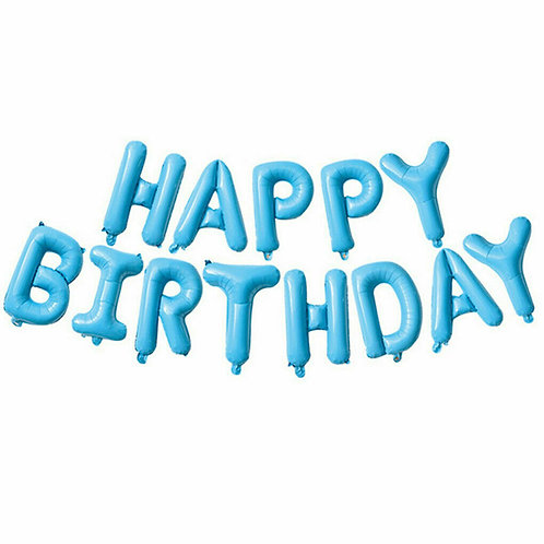 Baby Blue Happy Birthday