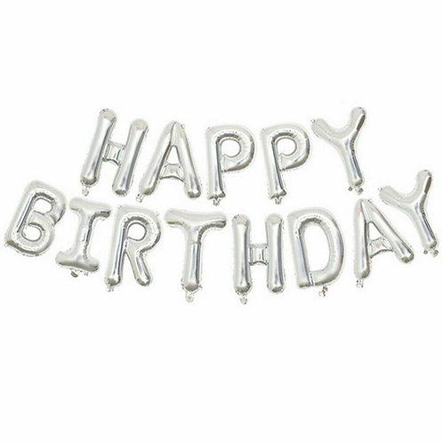 Silver Happy Birthday