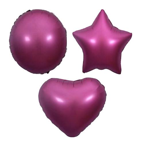 Dark Pink Satin Heart/Star/Round