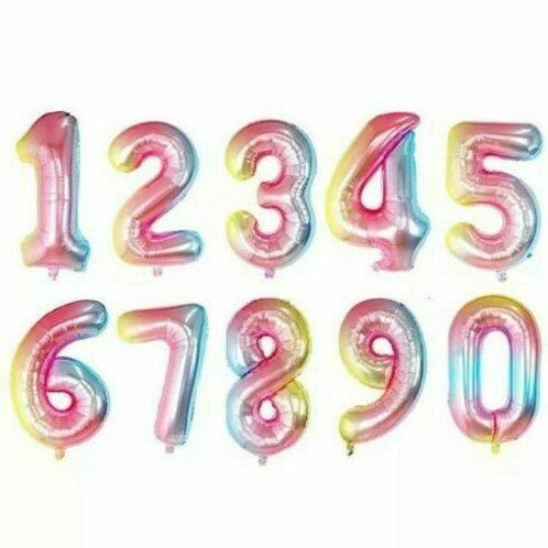 Rainbow 40inch Number