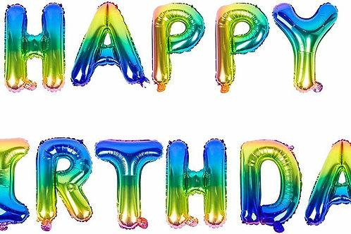 Bright Rainbow Happy Birthday