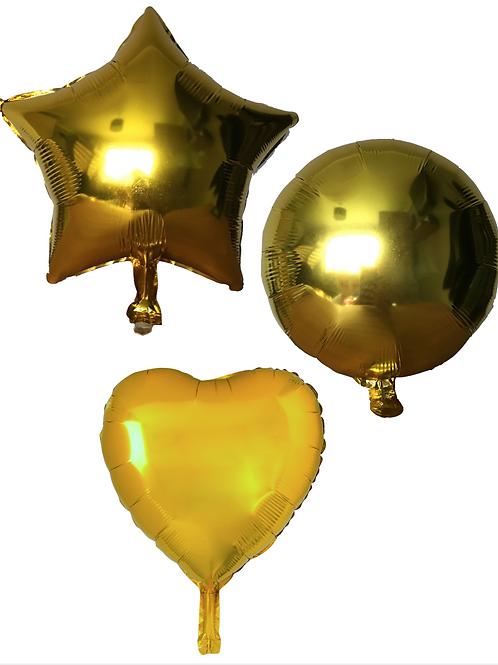 Gold Heart/Star/Round