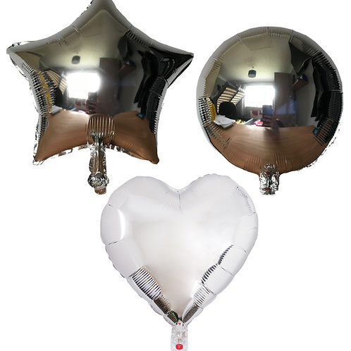 Silver Heart/Star/Round
