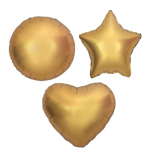 Gold Satin Heart/Star/Round