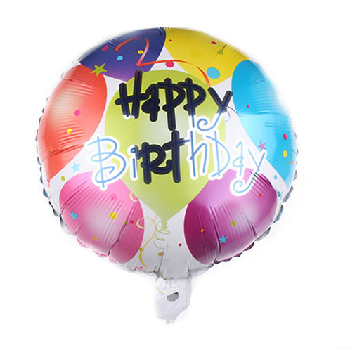 White/Balloons Round