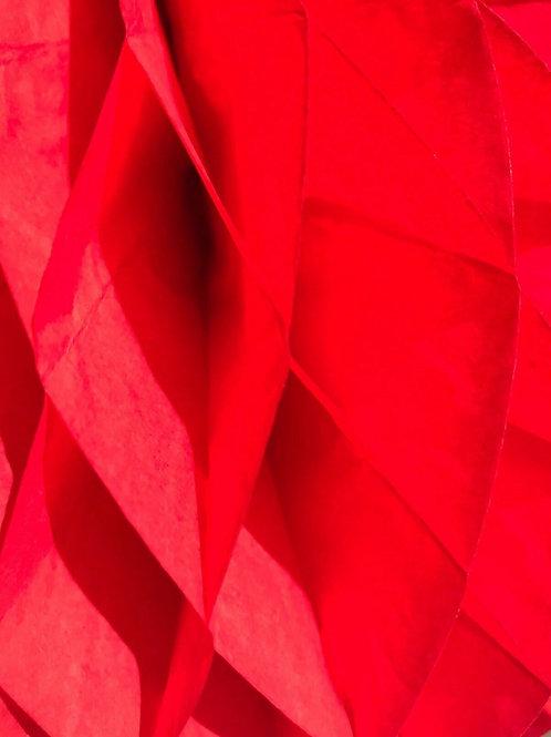 Poppy Red Honeycomb