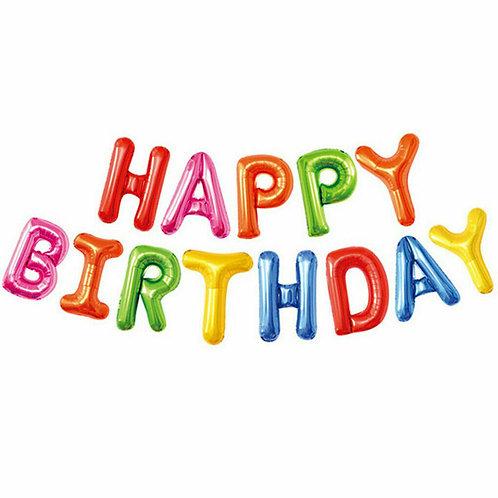 Multicoloured Solid Happy Birthday