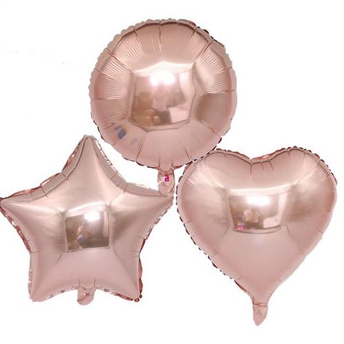 Rose Gold Heart/Star/Round