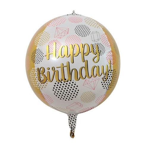 4D Sphere Happy Birthday