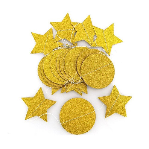 Circle + Stars - Gold