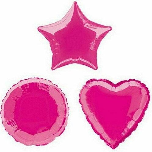 Hot Pink Heart/Star/Round
