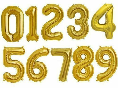 Gold 40inch Number