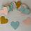 Thumbnail: Heart - Gold + Blue + Pink