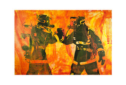 Fire Team 80 x 120 cm Acrylic on Board