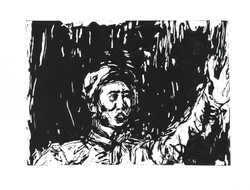 Mao 54 x 78 cm Woodcut Print on Paper