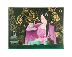 Tea Ceremony 60 x 80 cm Acrylic on Board