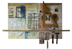 Architecture 80 x 120 cm Mixed Media with Tools