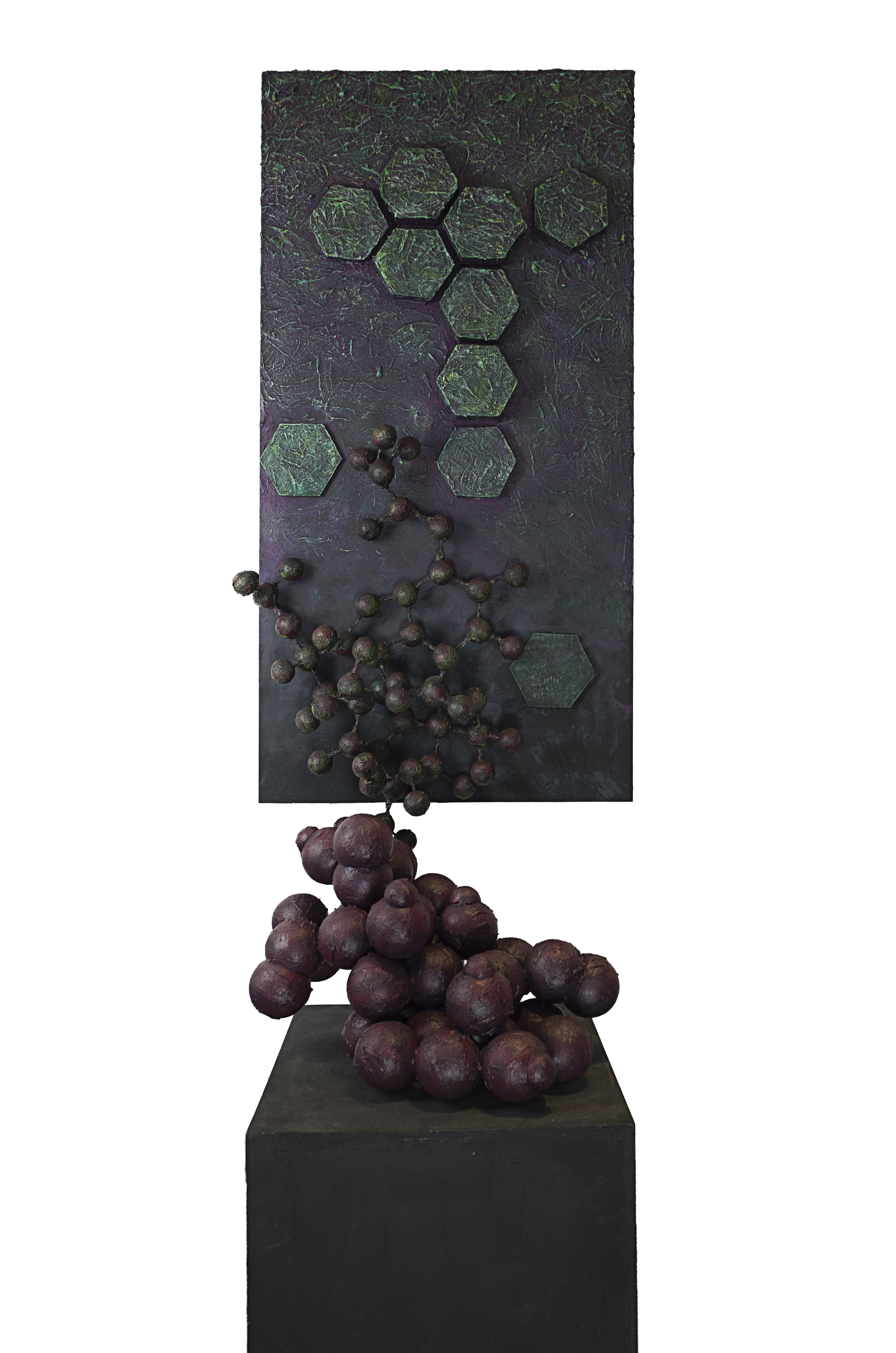 Molecular Manifestation  150 x 65 x 65 cm Mixed Media