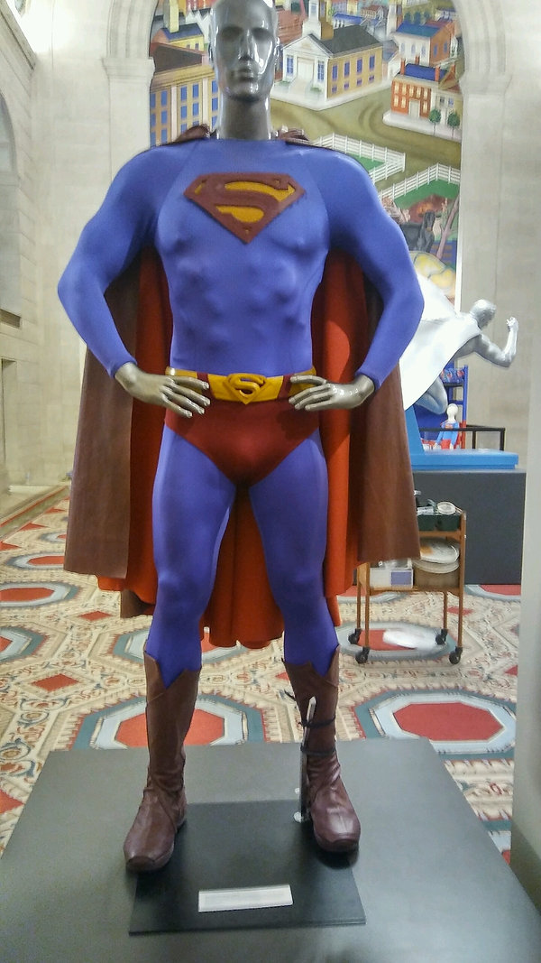 Superman costume made by the Bronze Armory