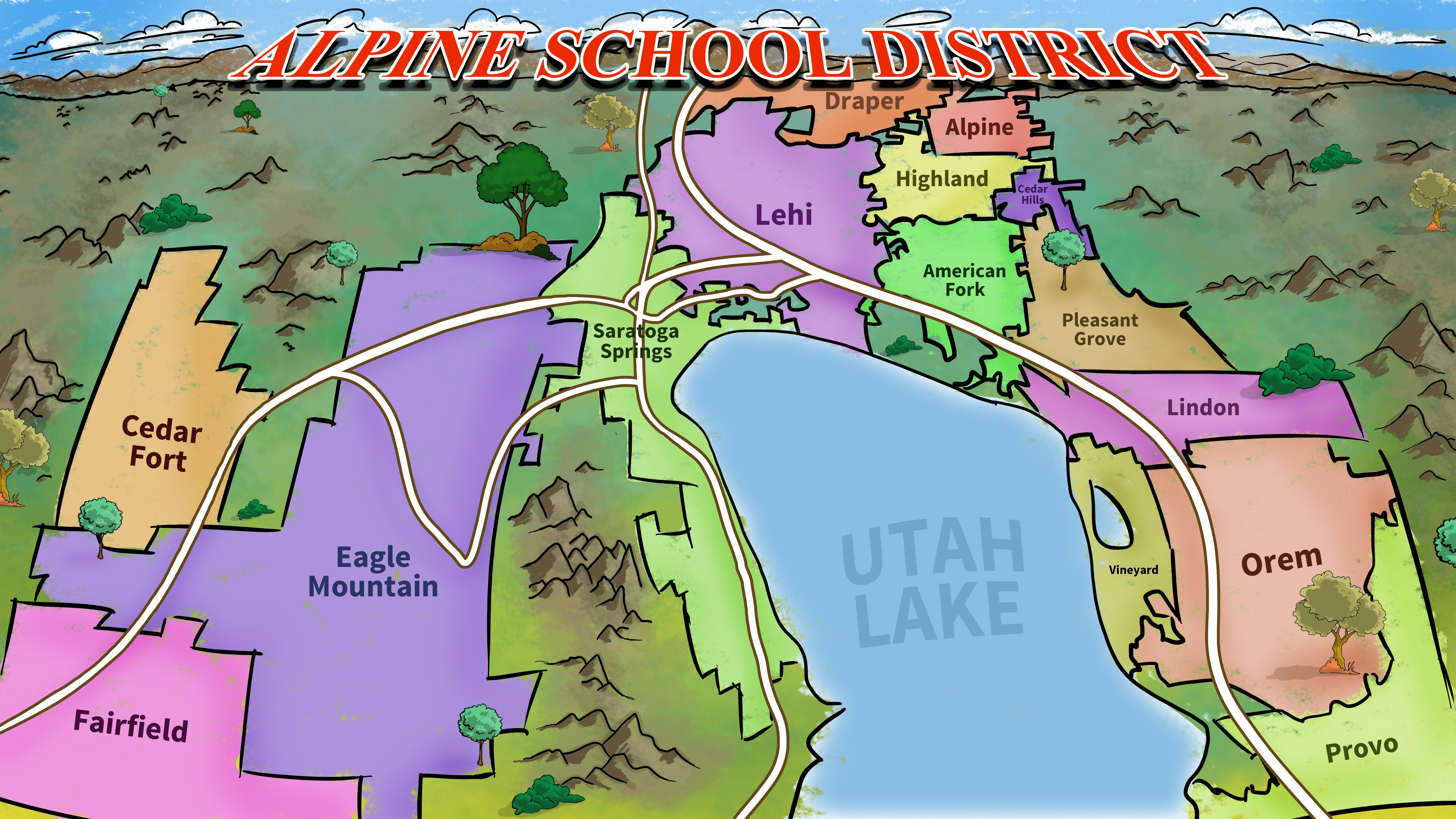 Alpine School District - Final District Map 03