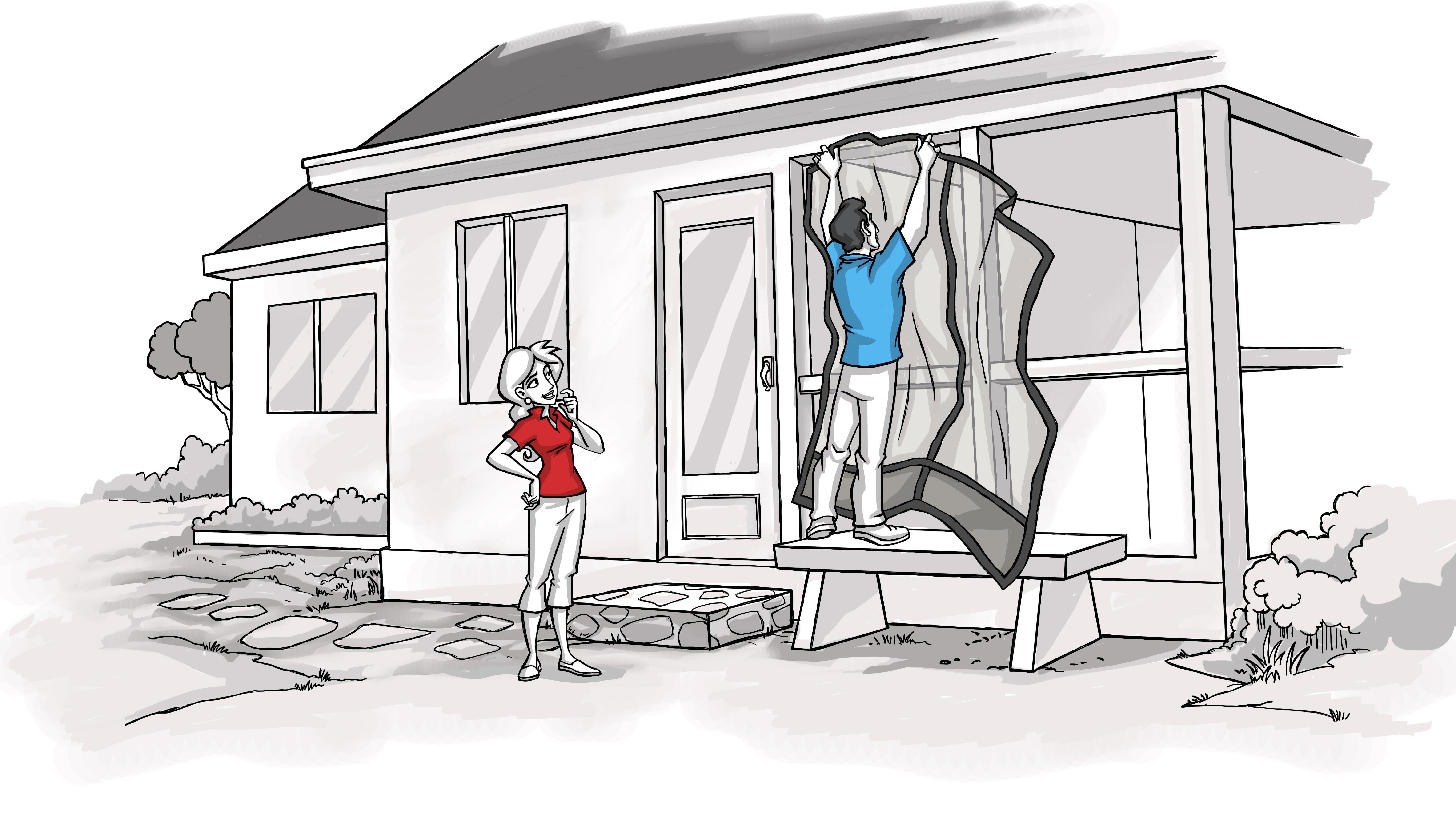 Mosquito Curtains 2 - Scene 02e