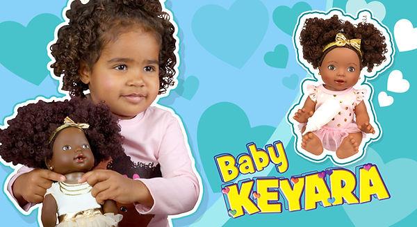 Kenya Girl Doll - Baby Keyara - curly to