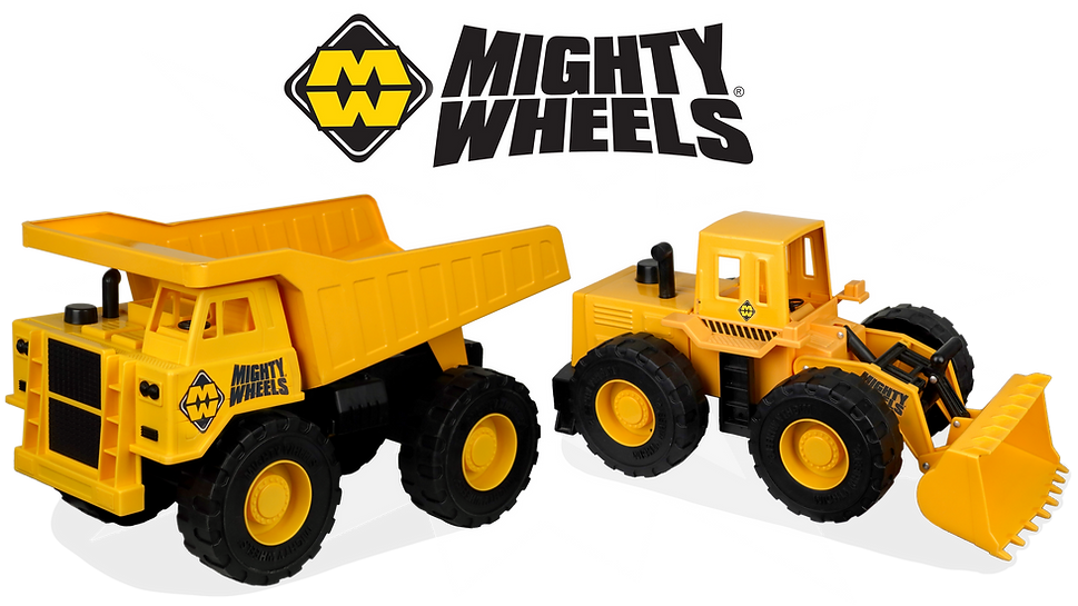 Mighty Wheels Toy Trucks Tough Strong St