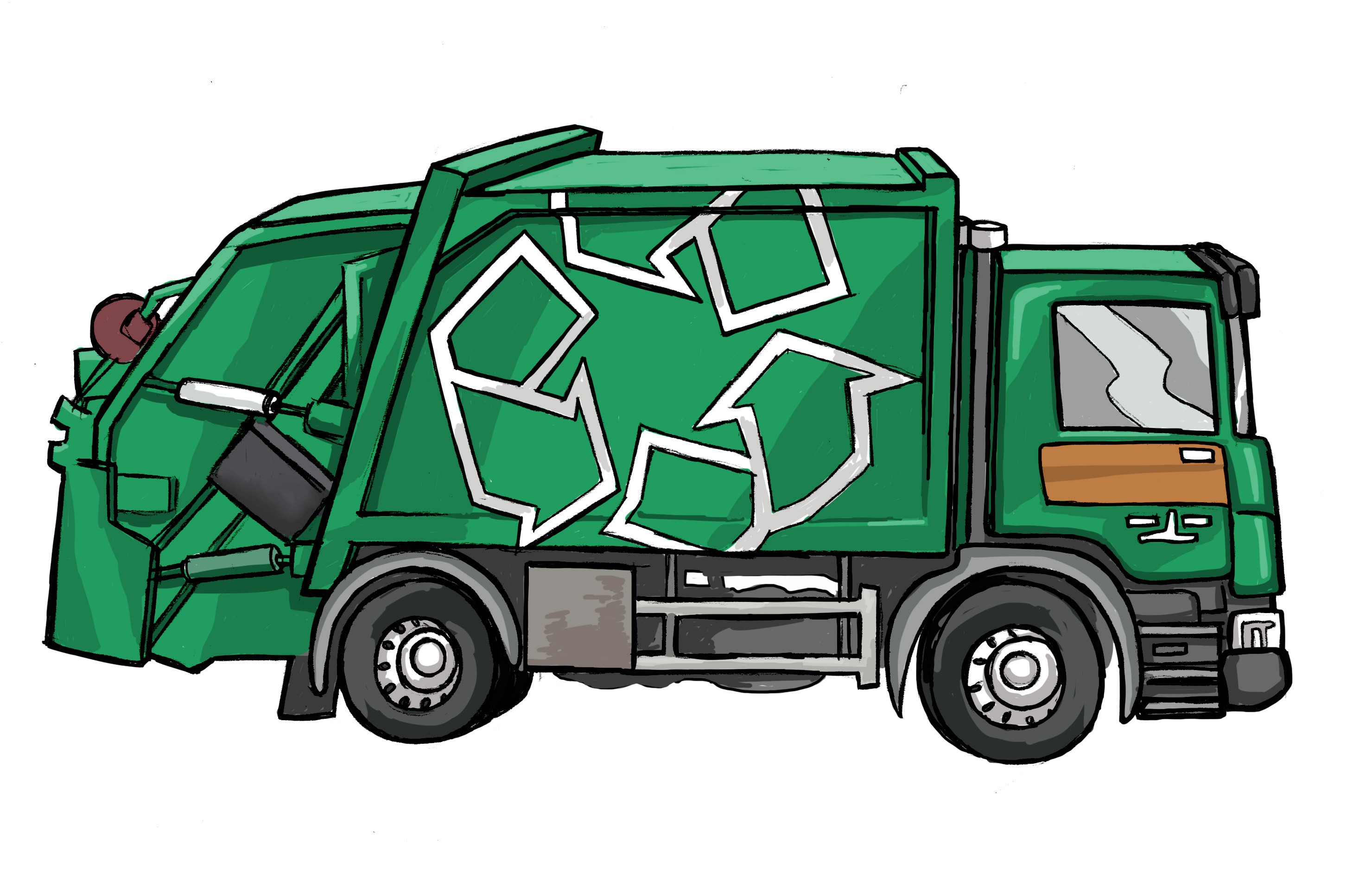 Re-play New Recycling truck