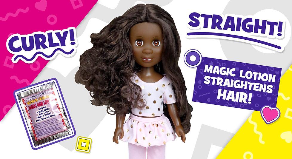 Kenya Girl Doll - Magic lotion straighte