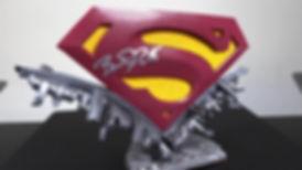 Superman Symbol Display Stand