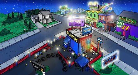 The best Drawing Video Company in UT - Street at night with lights