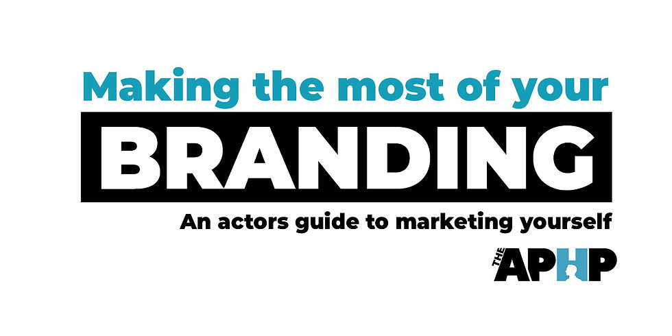 Marketing yourself as and actor