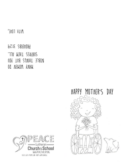 Mothers Day Card - Woman Girl Wheelchair