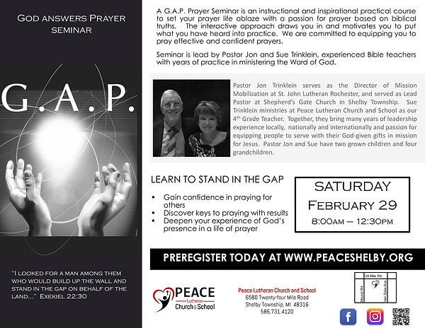 gap seminar | peaceshelby