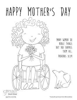 Mother_s Day Coloring Pages - GirlWoman