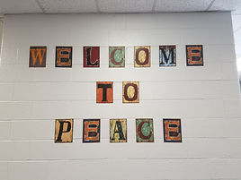 Peace Welcome sign