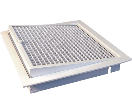 Filtered Eggcrate Grille Hinged