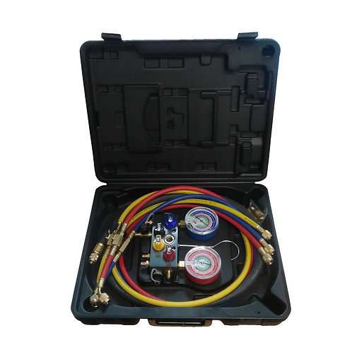 Tools HVAC Manifold R410A, R22, R404A Aluminium 4 Way 96261